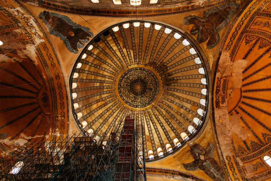 Image of Interior Of Illuminated Hagia Sophia