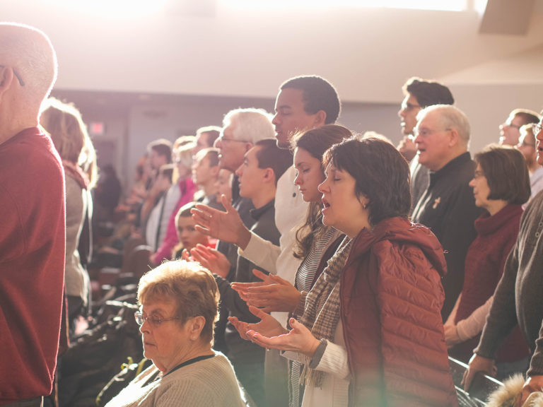 Image of people in a church