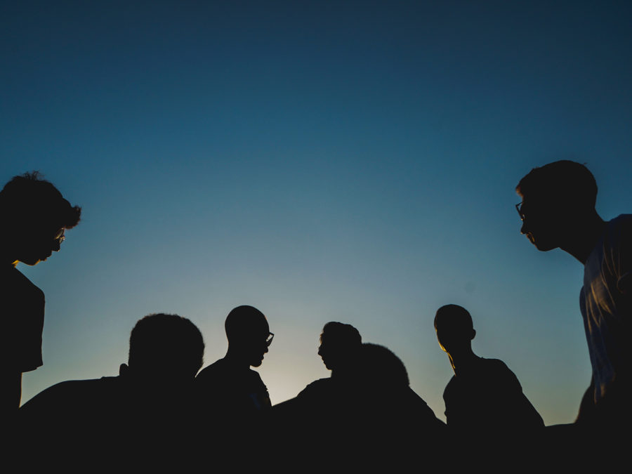 Image of people in a silhouette
