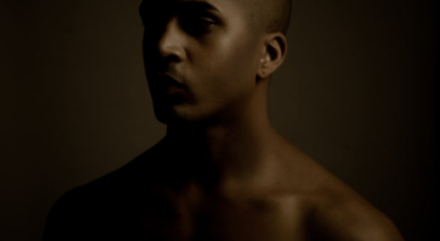 Sepia silhouette portrait of a man