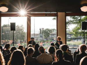 Teju Cole and Krista Tippett have a conversation live at The On Being Project on Loring Park in Minneapolis, MN