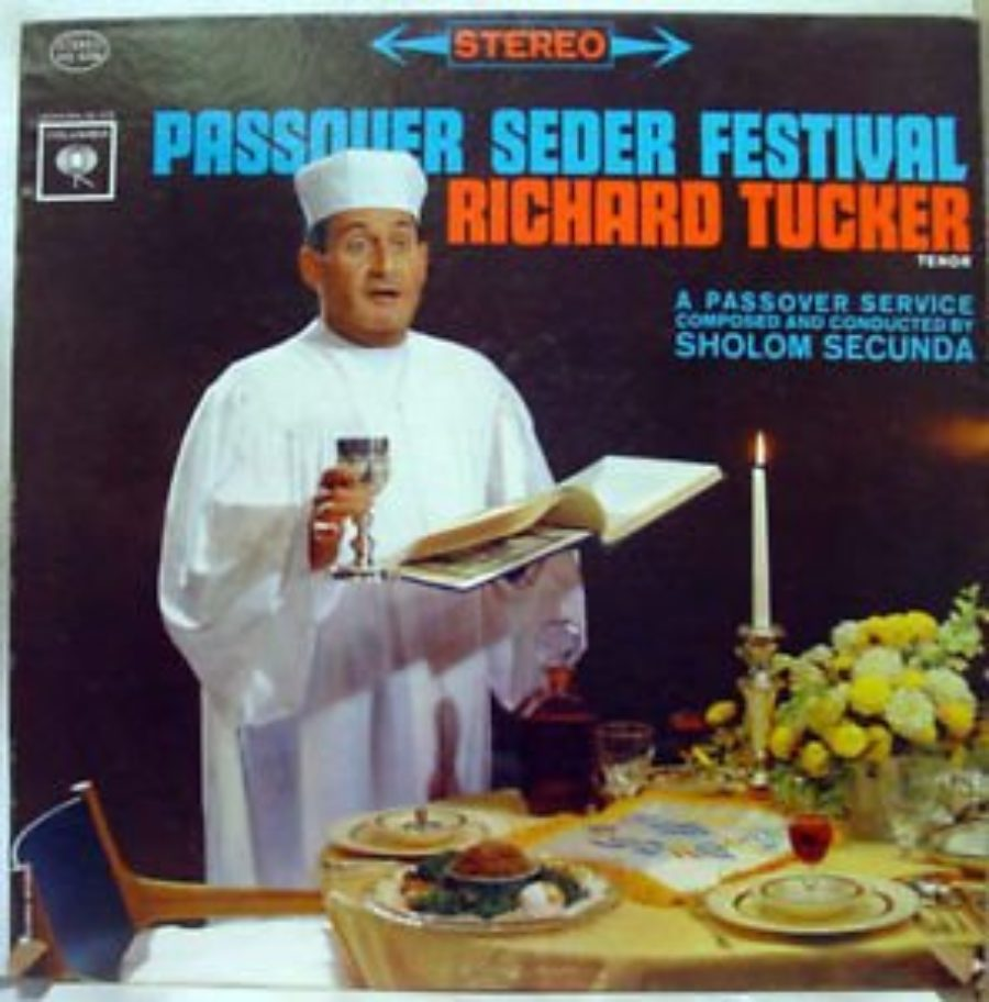 Cover of Passover Seder Festival - Richard Tucker, Sholom Secunda, Ben Irving - Stereo Vinyl LP Record