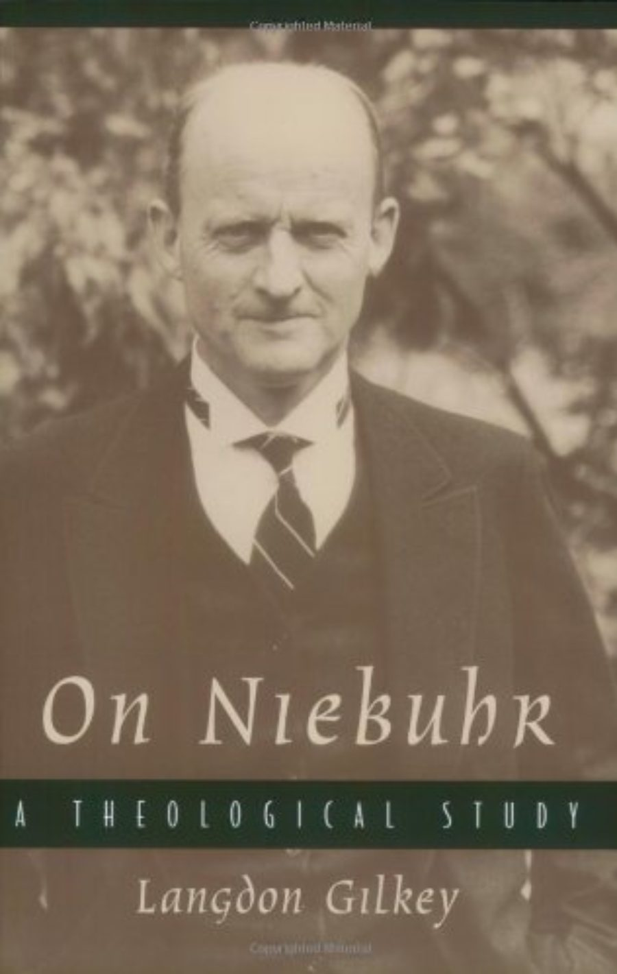 Cover of On Niebuhr: A Theological Study