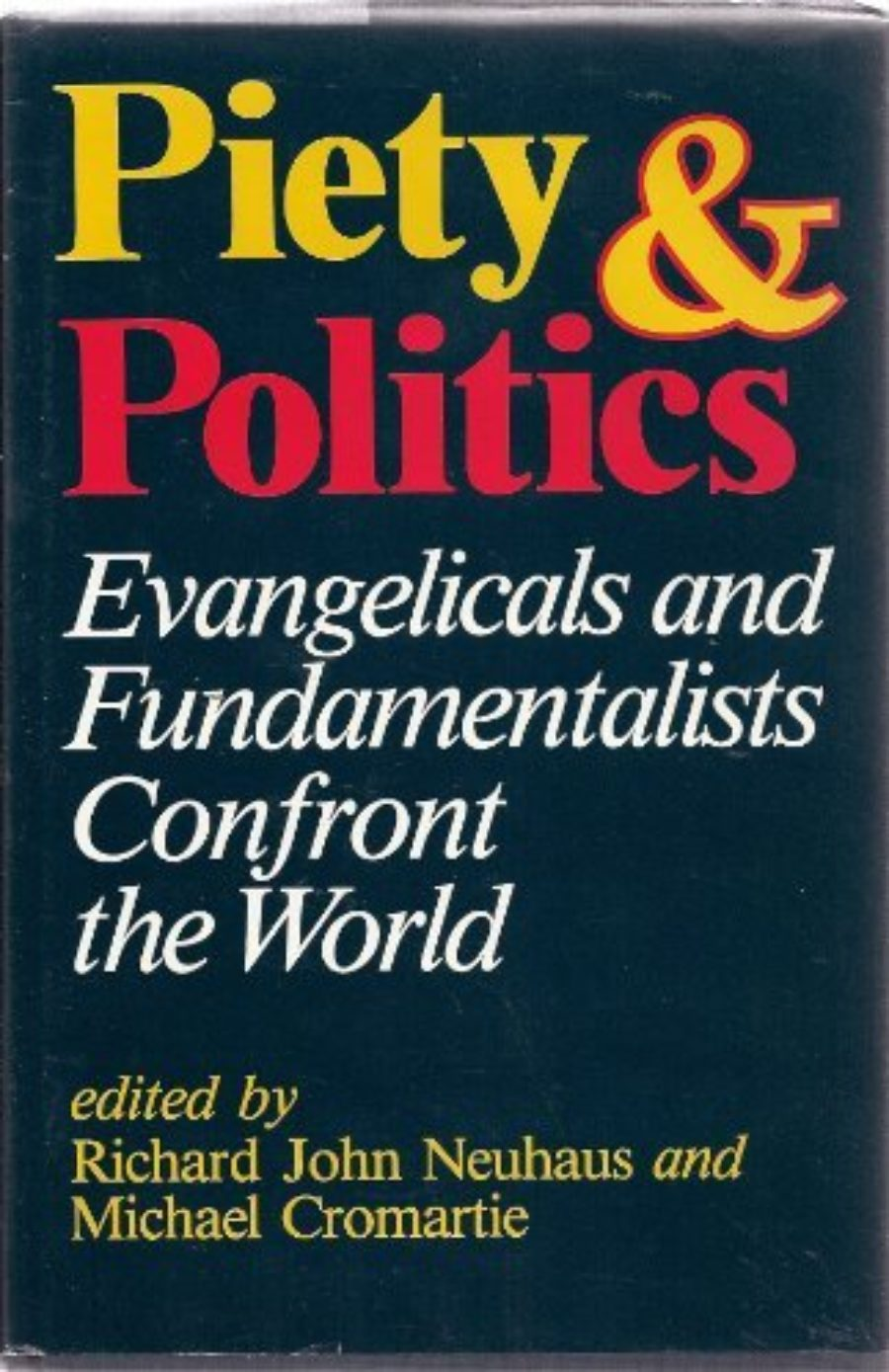 Cover of Piety and Politics