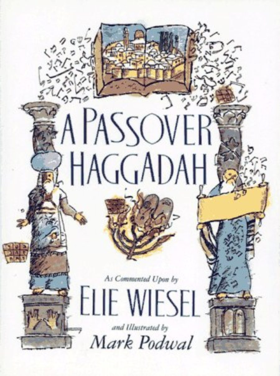 Cover of Passover Haggadah: As Commented Upon By Elie Wiesel and Illustrated by Mark Podwal