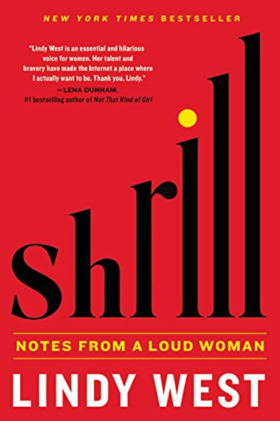 Cover of Shrill: Notes from a Loud Woman