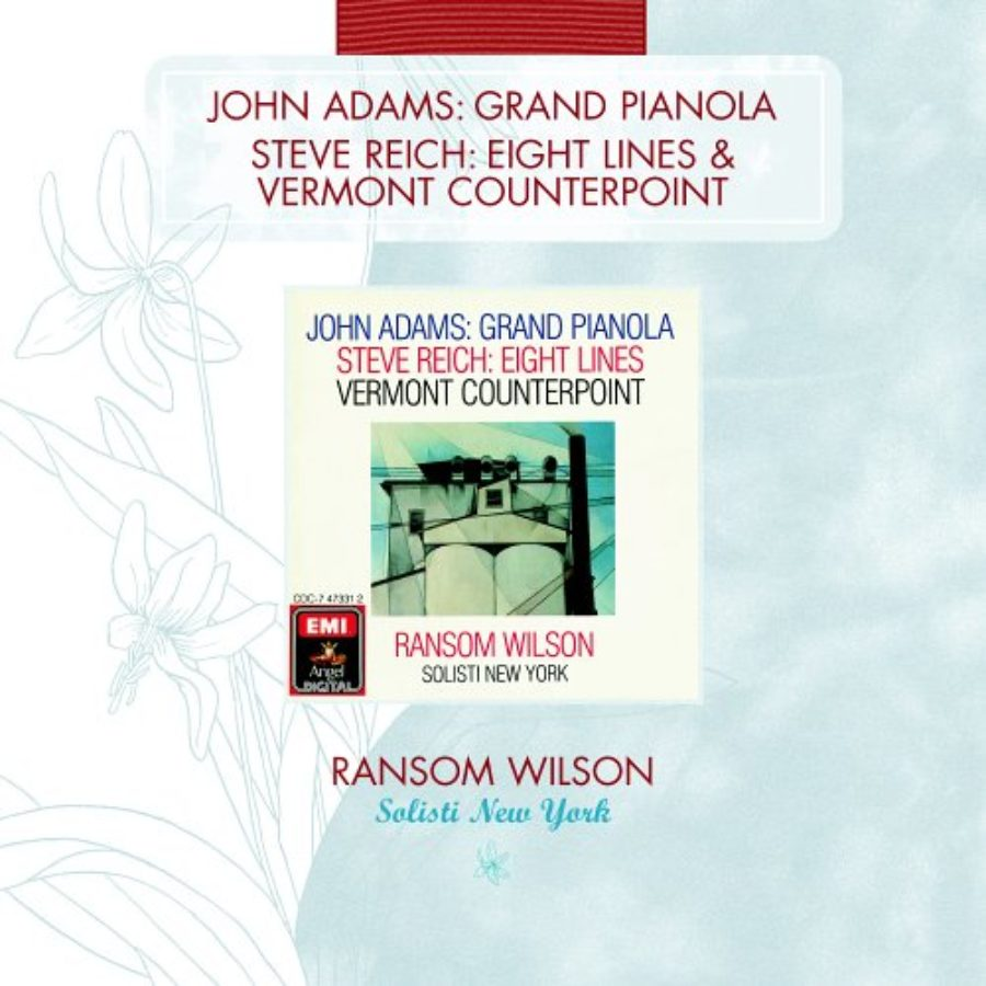 Cover of Adams: Grand Pianola Music / Reich: Vermont Counterpoint; Eight Lines