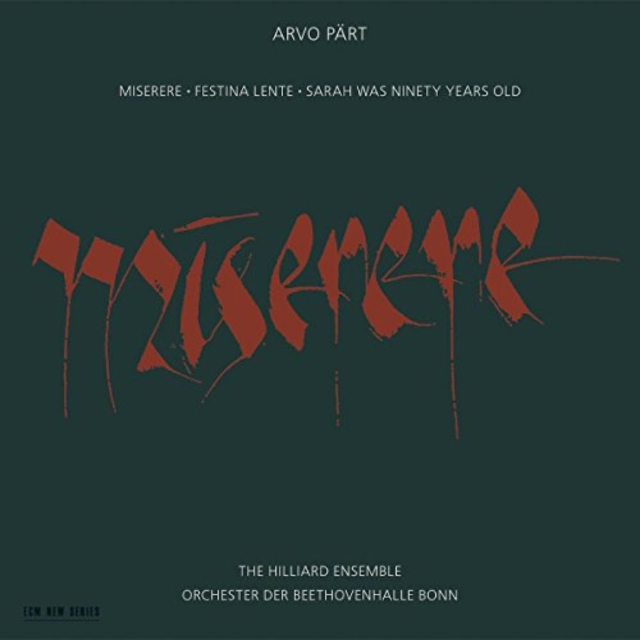 Cover of Miserere; Festina Lente