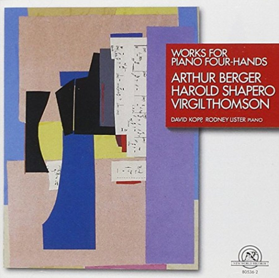 Cover of Works for Piano Four Hands