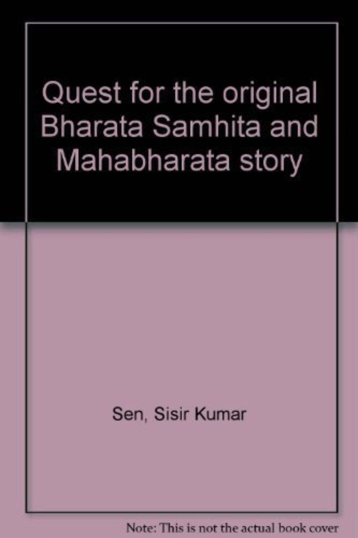 Cover of Quest for the Original Bharata Samhita and Mahabharata Story