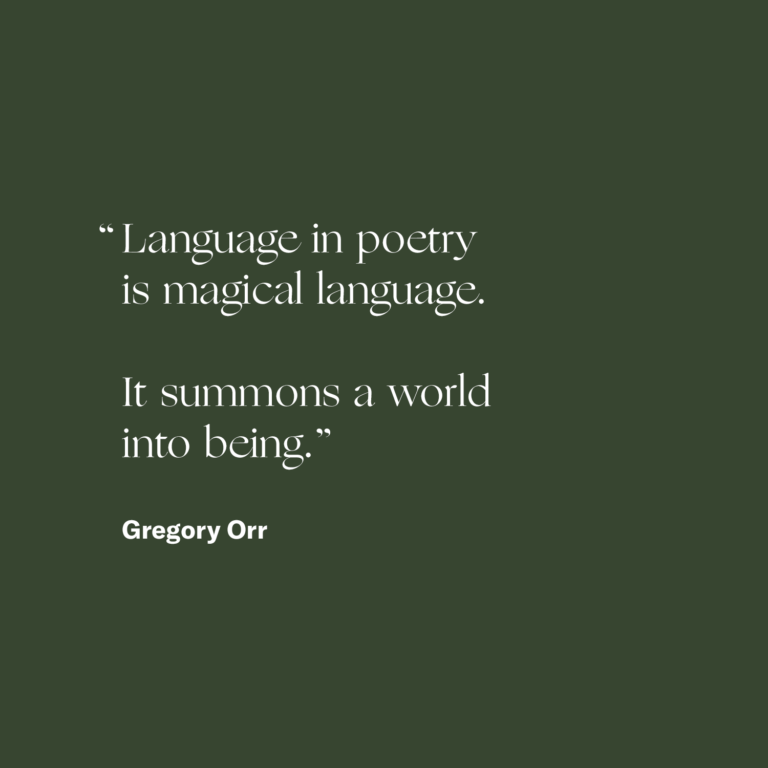 Gregory Orr — Shaping Grief With Language - The On Being Project