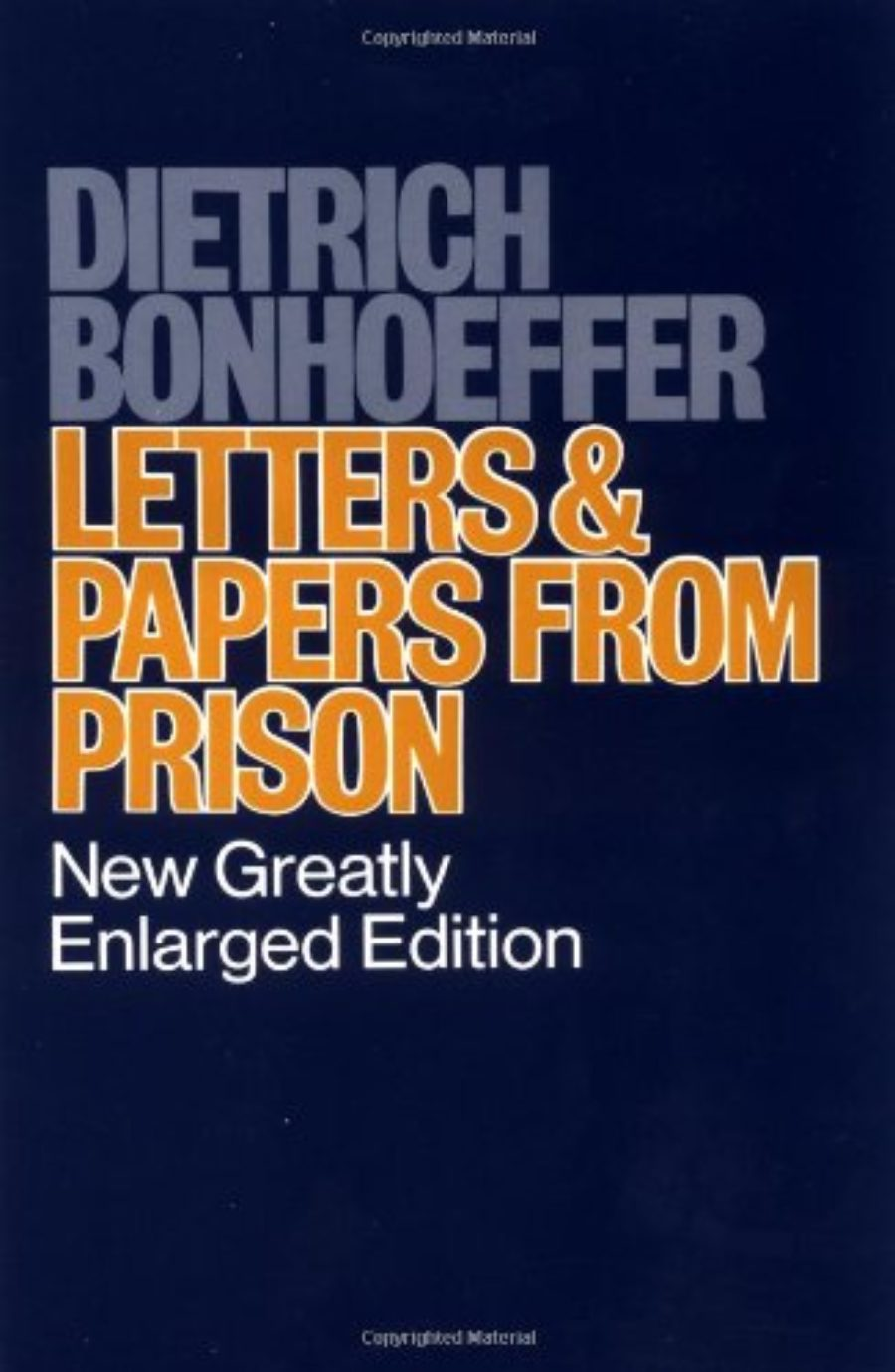 Cover of Letters and Papers from Prison
