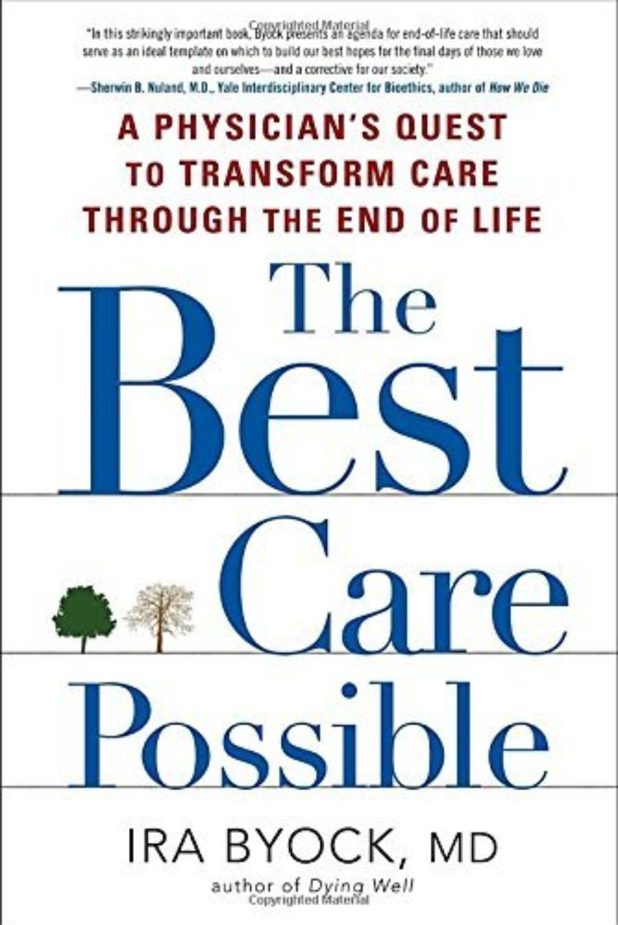 Cover of The Best Care Possible: A Physician's Quest to Transform Care Through the End of Life
