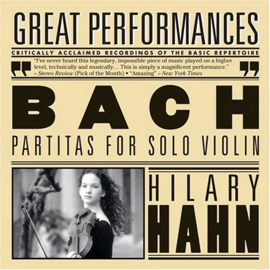 Cover of Hilary Hahn plays Bach