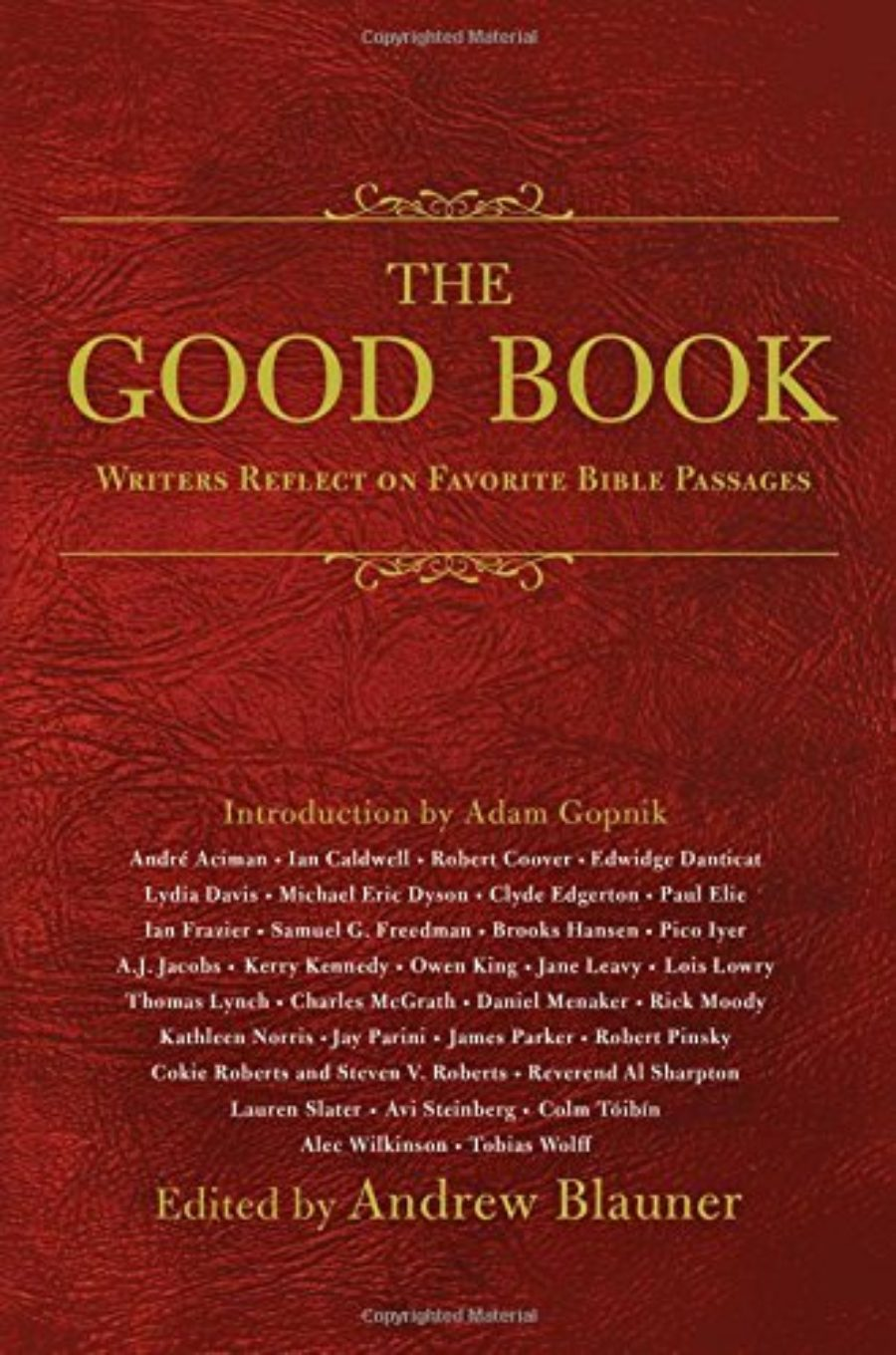 Cover of The Good Book: Writers Reflect on Favorite Bible Passages