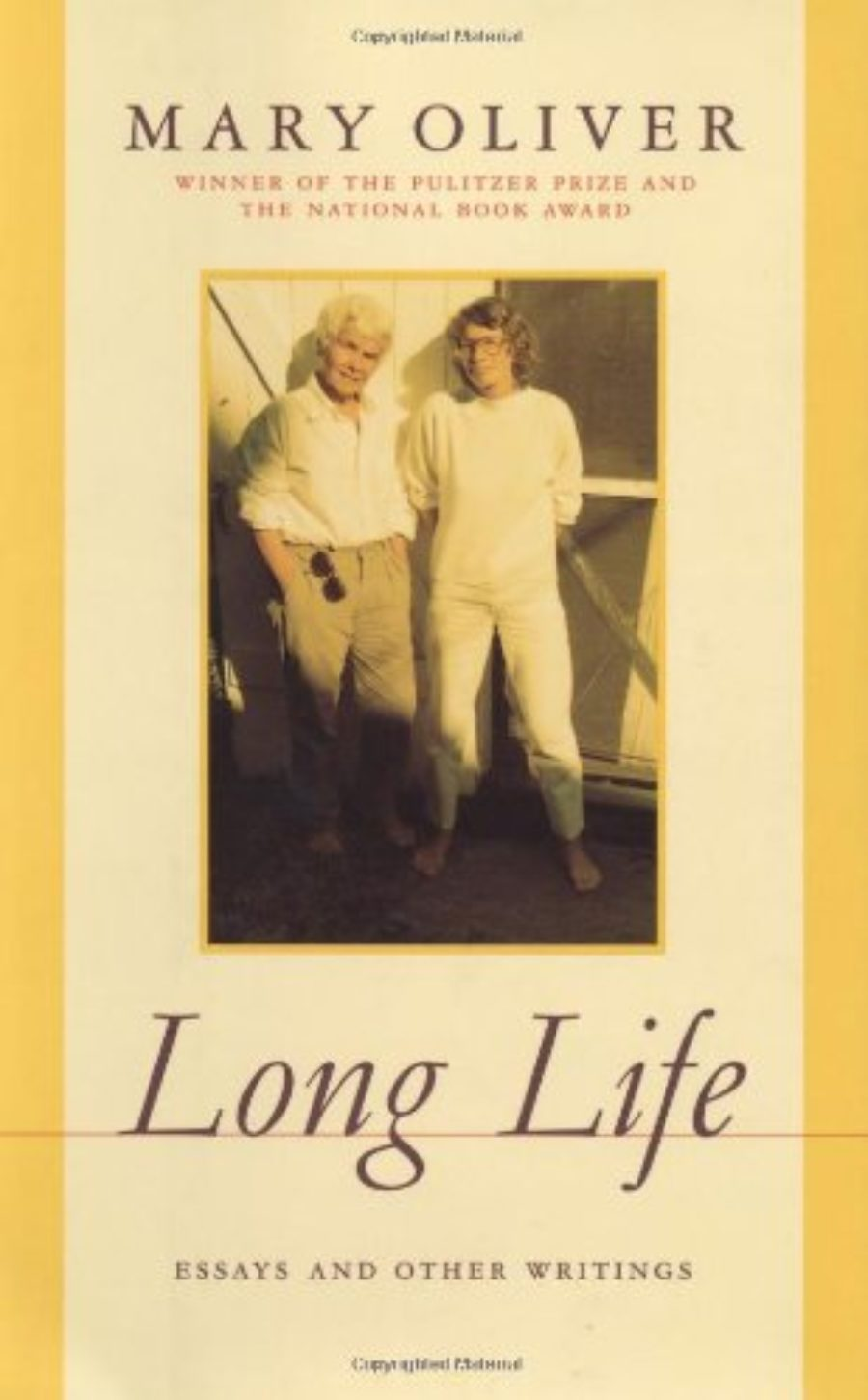 Cover of Long Life: Essays And Other Writings