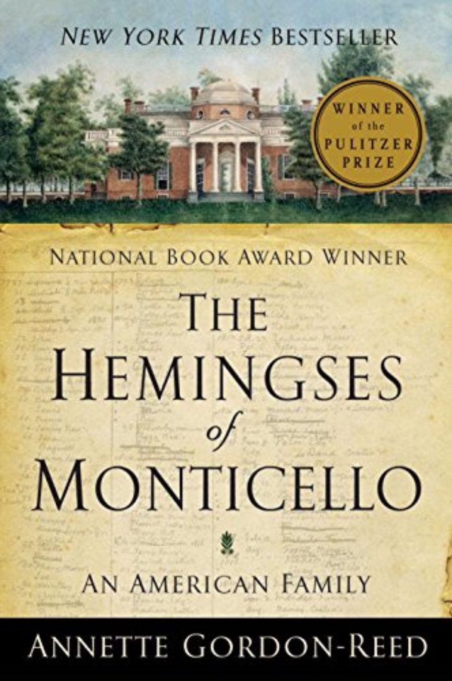 Cover of The Hemingses of Monticello: An American Family