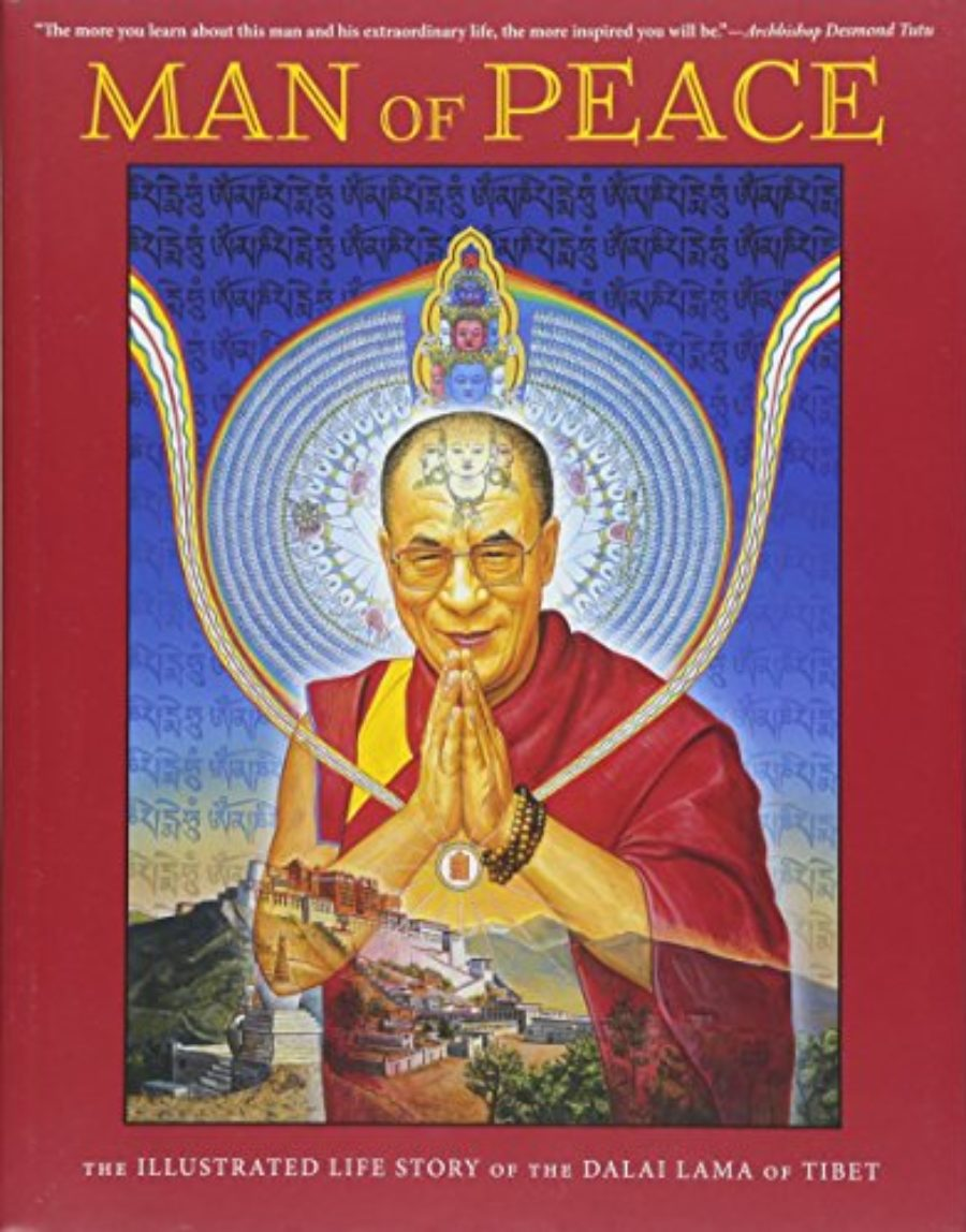 Cover of Man of Peace: The Illustrated Life Story of the Dalai Lama of Tibet