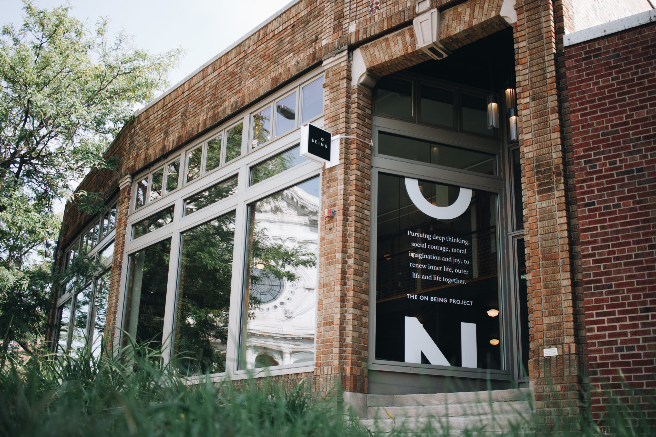 Street view of The On Being Project's studios in Minneapolis, Minnesota.